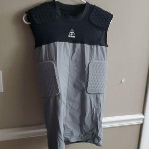 McDavid Padded Tank Shirt Gray/Black (5 Pad) Sz L